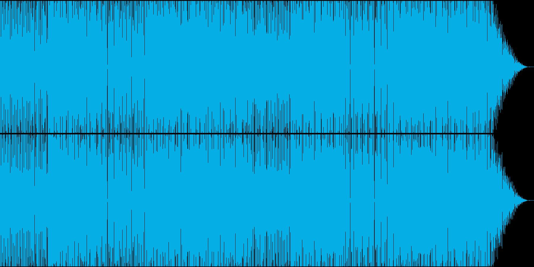 物悲しいシンセサイザーが特徴のBGMの再生済みの波形