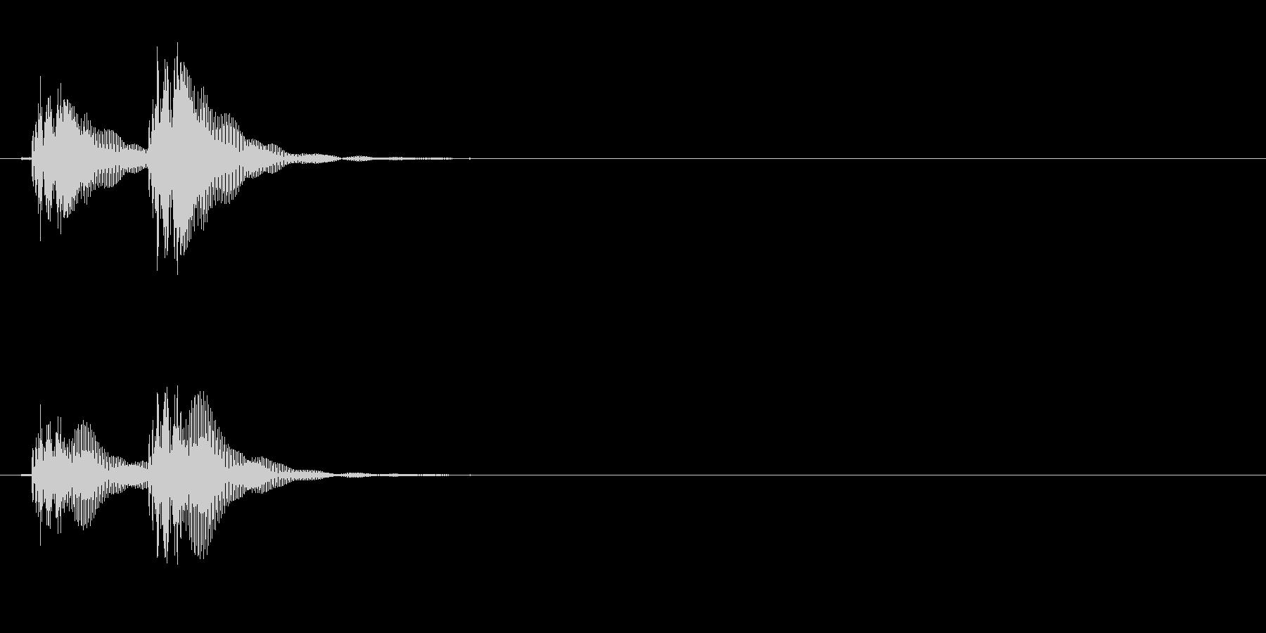 能や歌舞伎での小鼓(つづみ)の連続音の未再生の波形