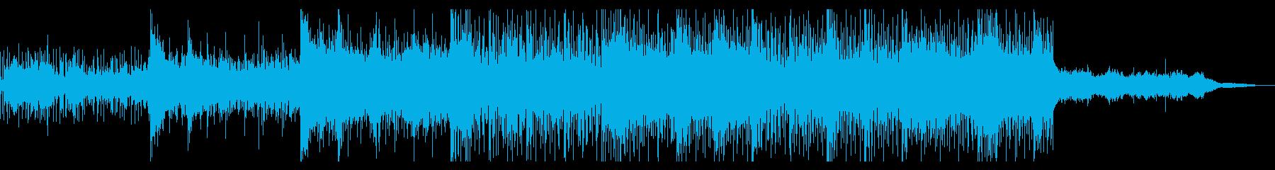 エスニックなホラーテクスチャの再生済みの波形