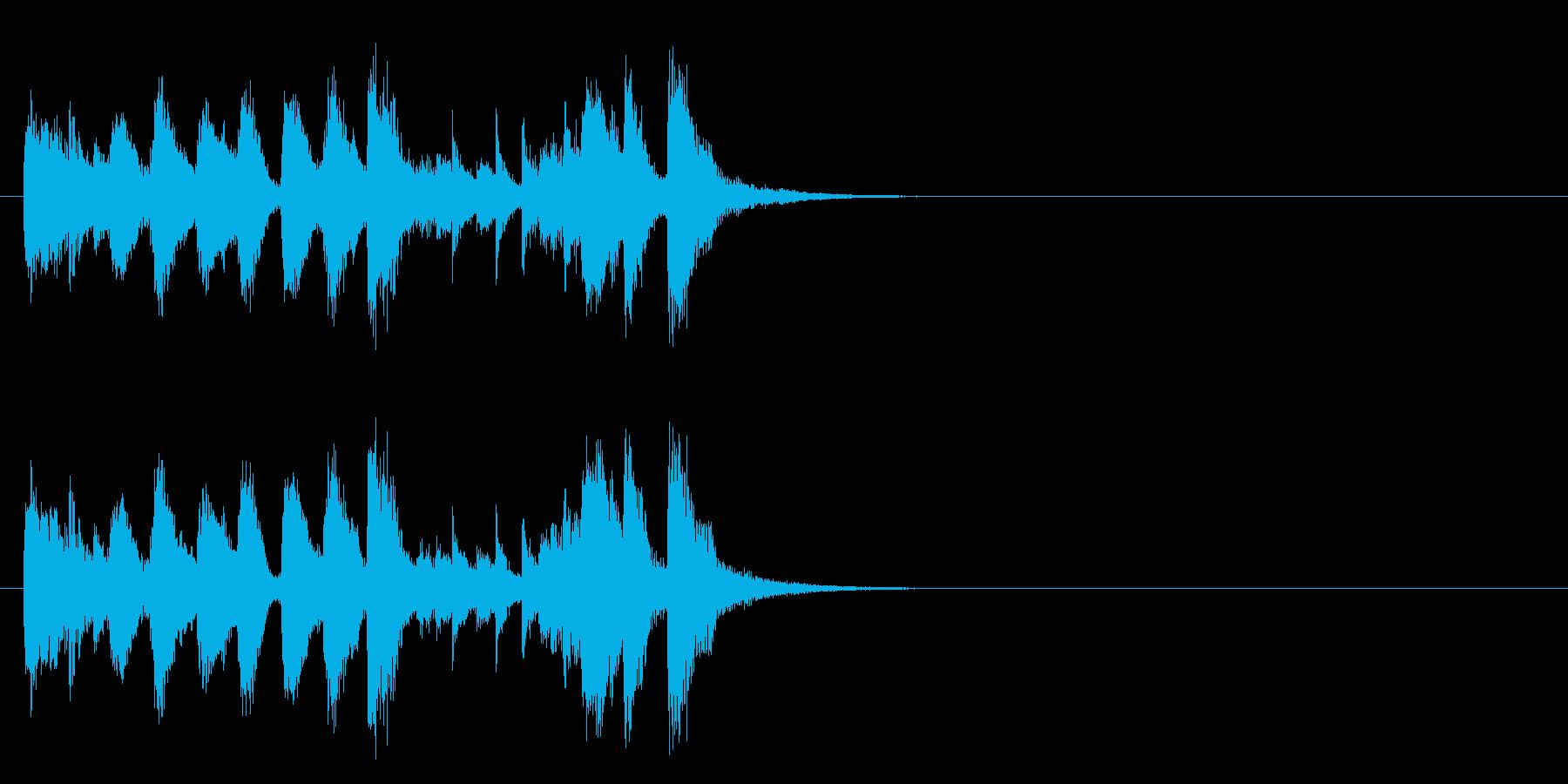 ジングル(ラグタイム風)の再生済みの波形