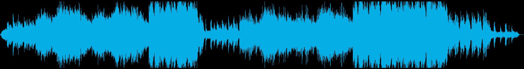 和楽器を使用した暗いアンビエント、映像にの再生済みの波形
