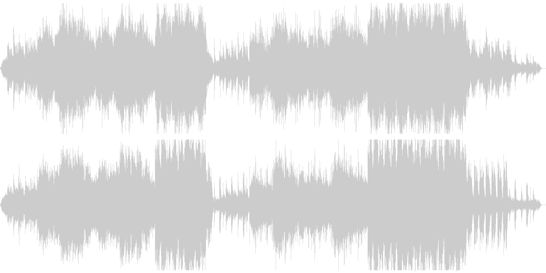 和楽器を使用した暗いアンビエント、映像にの未再生の波形
