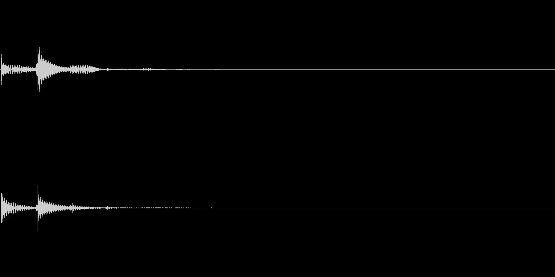 マリンバの失敗音テンタンタンタンターンの未再生の波形