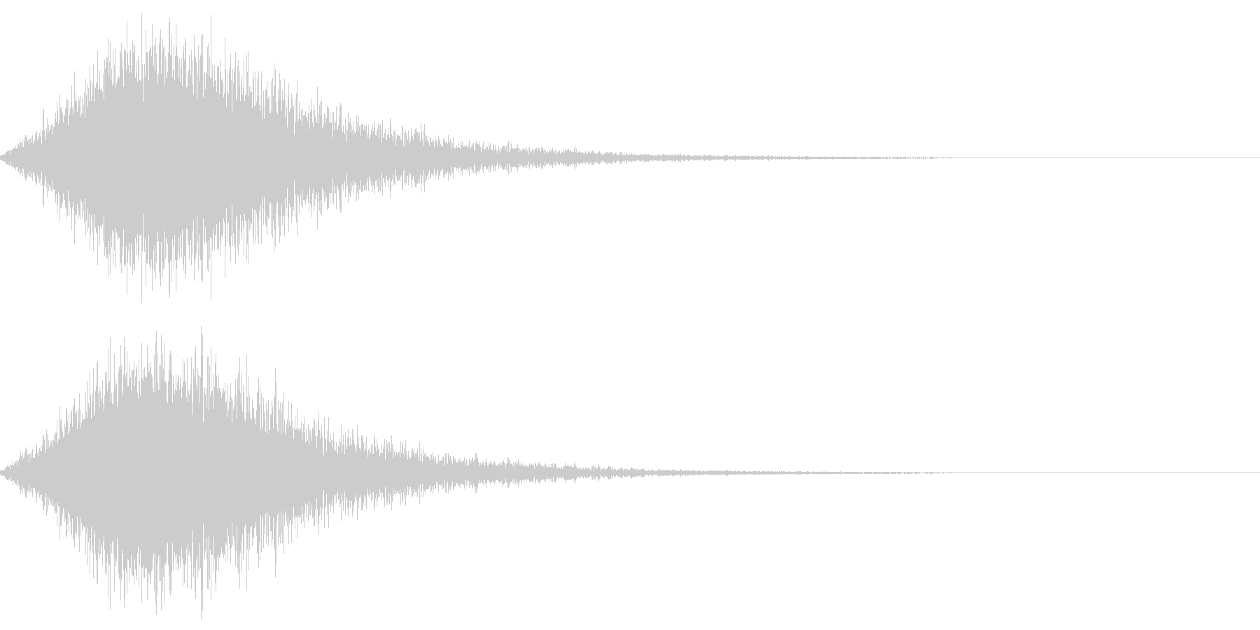 ブオッというハリウッド映画ライクな音の未再生の波形