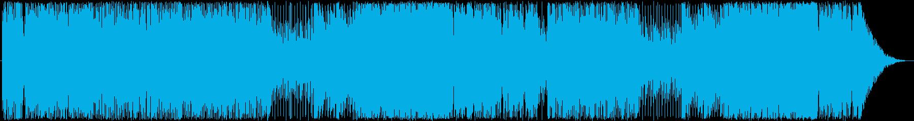 ノリのよいアップテンポな曲の再生済みの波形