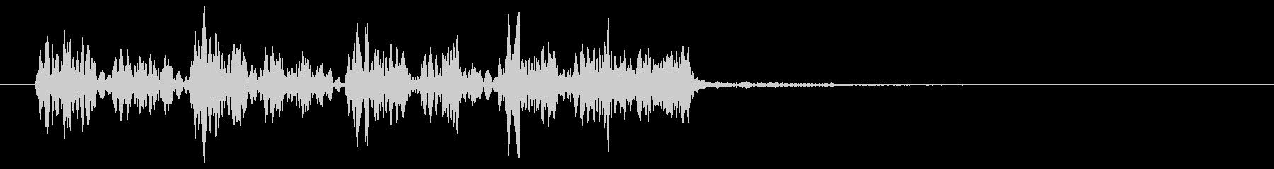 音楽効果;レコードスクラッチサウン...の未再生の波形