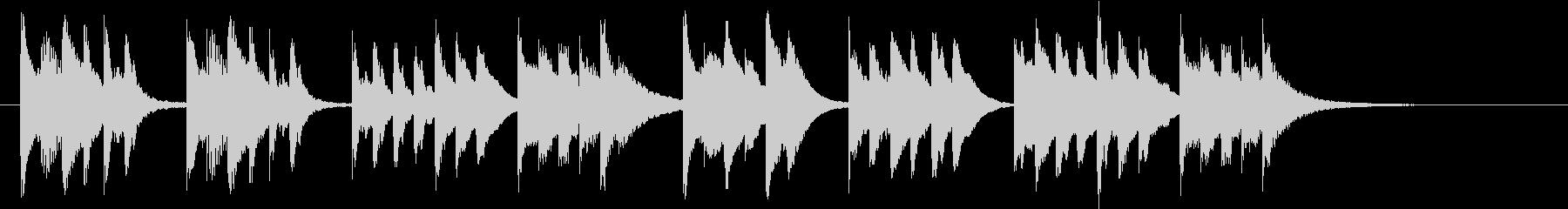 木琴が特徴のとても短いジングルの未再生の波形