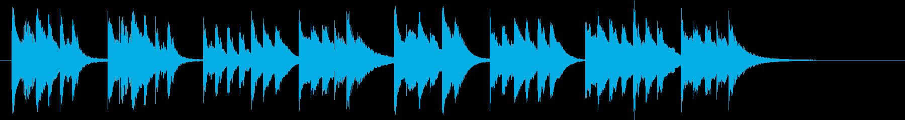 木琴が特徴のとても短いジングルの再生済みの波形