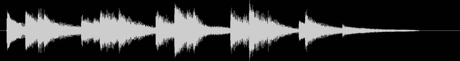 ノスタルジックで心温まるピアノジングルの未再生の波形