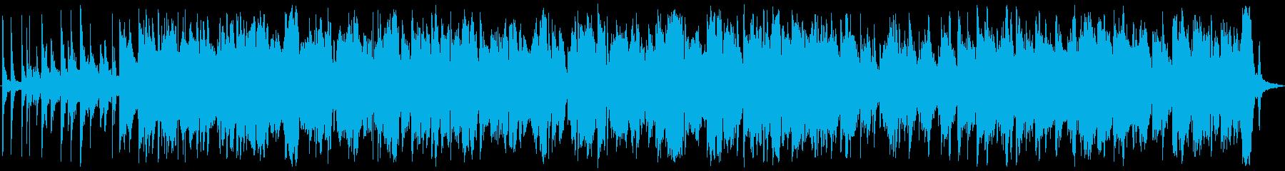 ピアノ中心の幻想的BGMの再生済みの波形