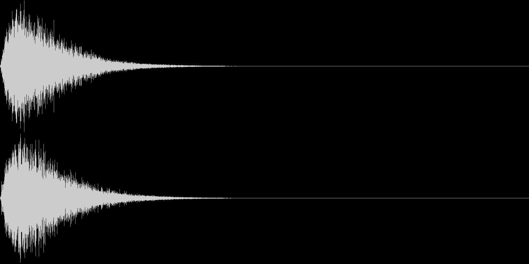 キュイン ボタン ピキーン キーン 9の未再生の波形