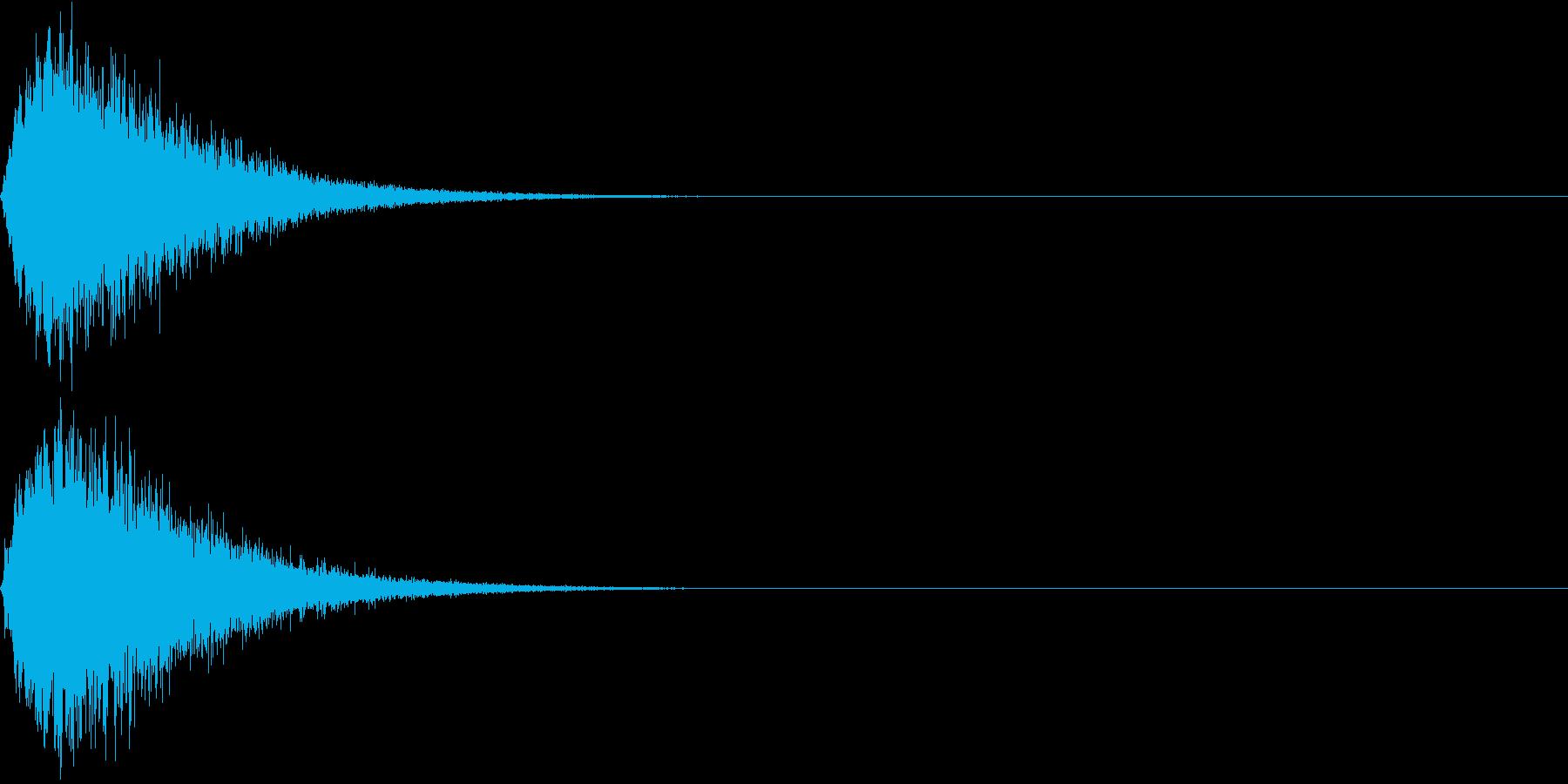 キュイン ボタン ピキーン キーン 9の再生済みの波形