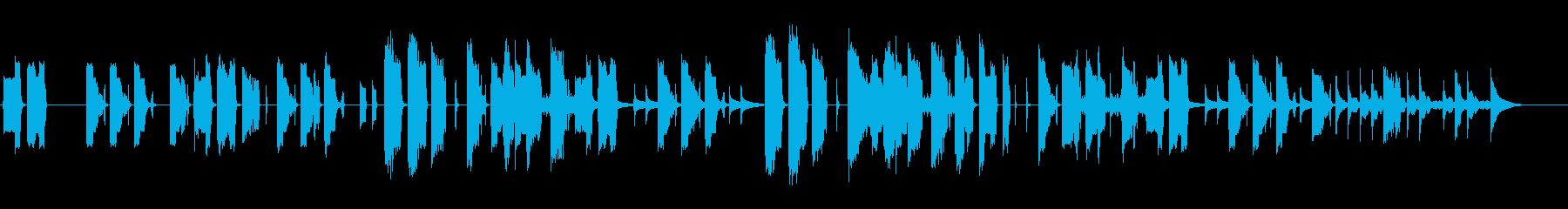 可愛らしくエモーショナルなBGMの再生済みの波形
