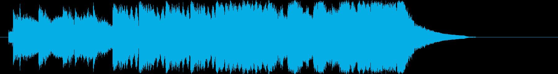 某映画会社風ファンファーレの再生済みの波形