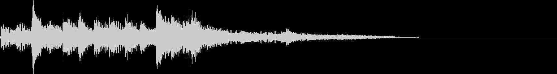 幻想的なピアノソロ  ジングルの未再生の波形