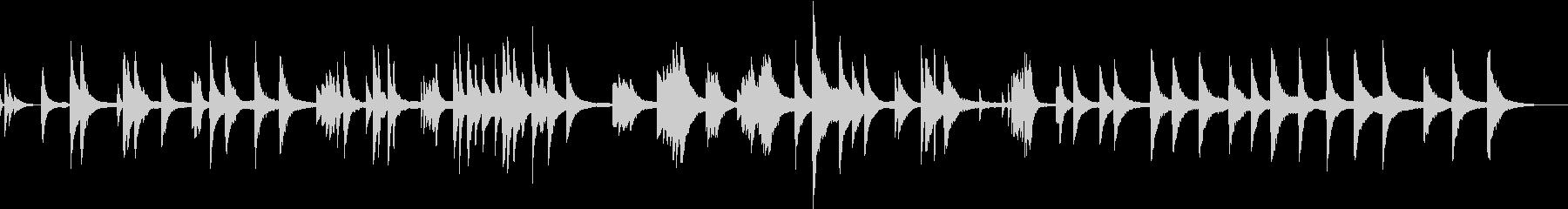ジャズ・現代音楽的な無調のピアノソロ作品の未再生の波形