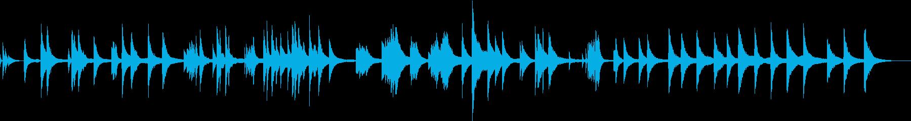 ジャズ・現代音楽的な無調のピアノソロ作品の再生済みの波形
