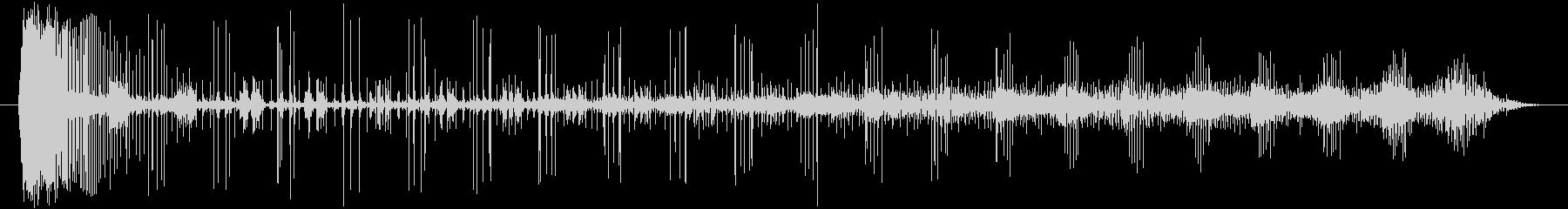 ノイズ 途切れるノイズのうねり03の未再生の波形