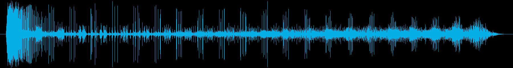 ノイズ 途切れるノイズのうねり03の再生済みの波形