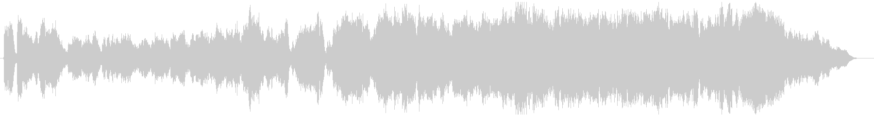 フルートとオーケストラ感動前向きバラードの未再生の波形