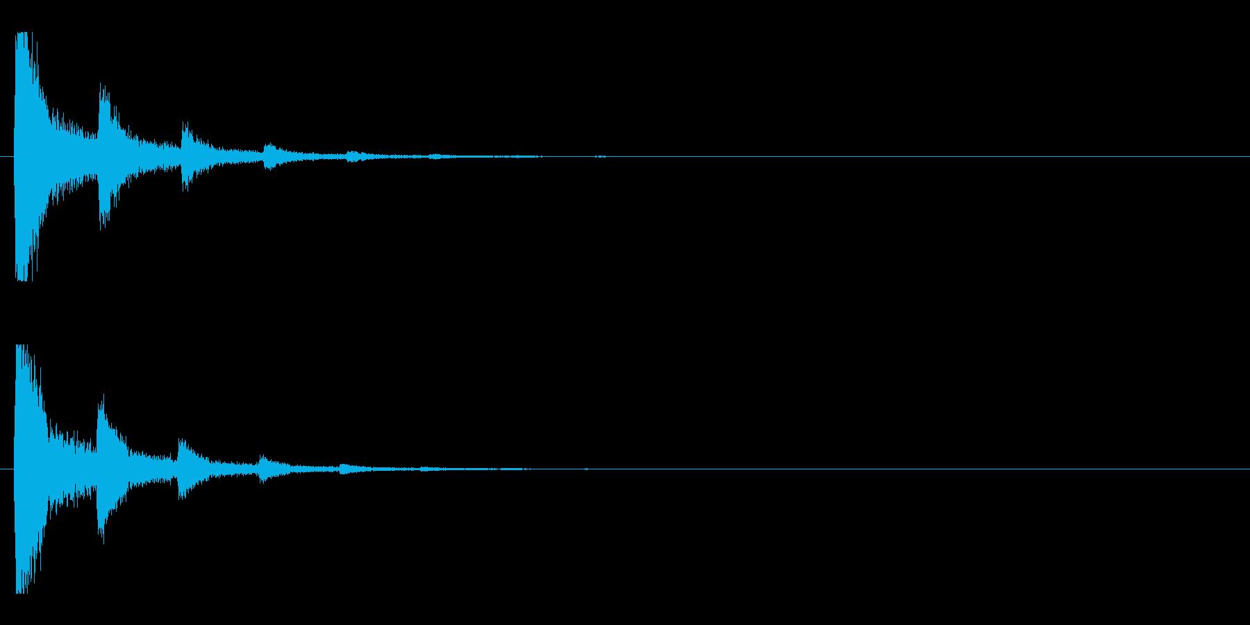 レーザー音-89-2の再生済みの波形