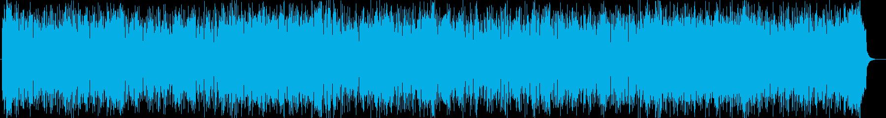 疾走感と躍動感のあるシンセのパワーある曲の再生済みの波形