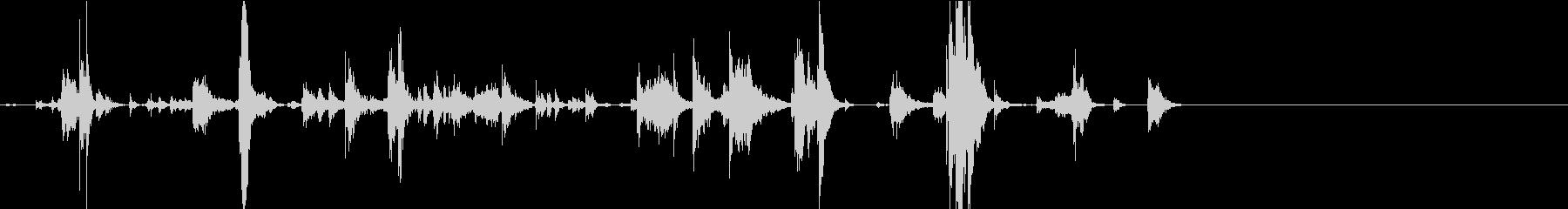 【生録音】手錠の音 7 取り外すの未再生の波形
