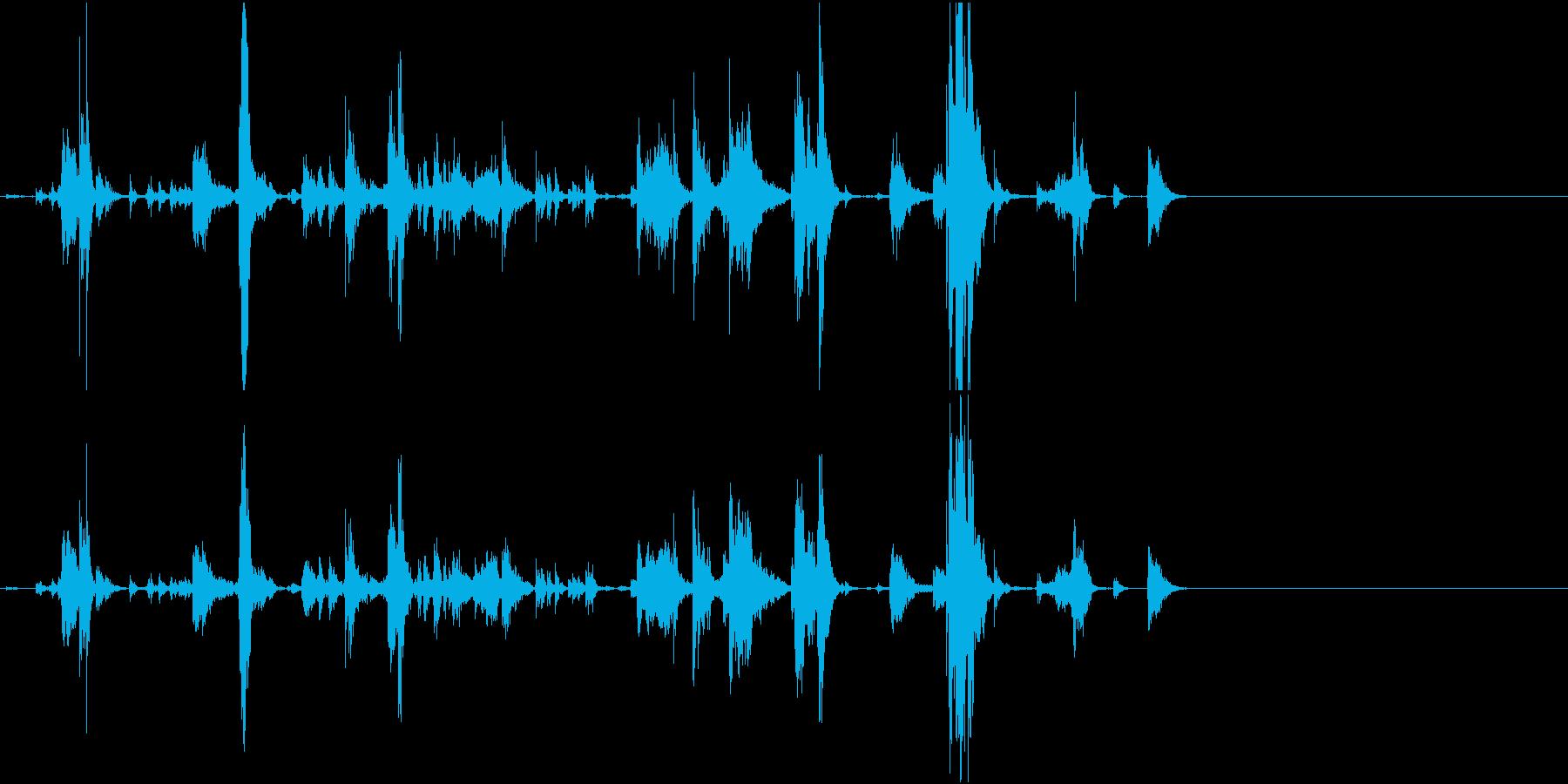 【生録音】手錠の音 7 取り外すの再生済みの波形