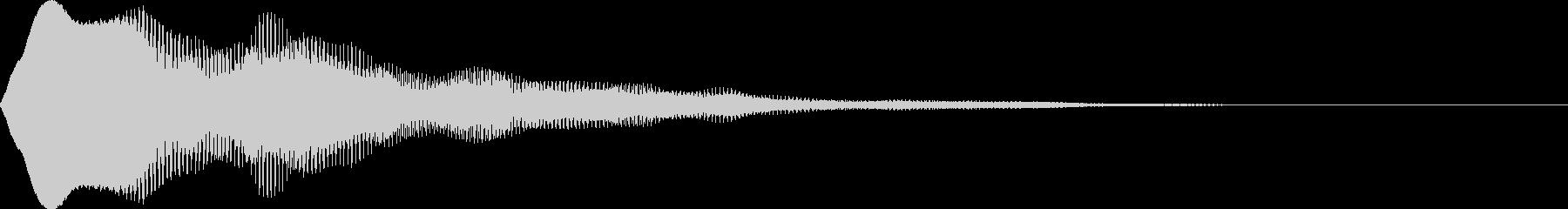 さわやかなボタンプッシュ音の未再生の波形