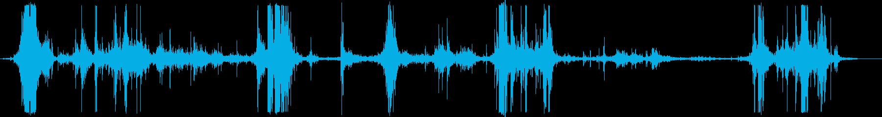 ネットが獲物の動きを捉えるの再生済みの波形