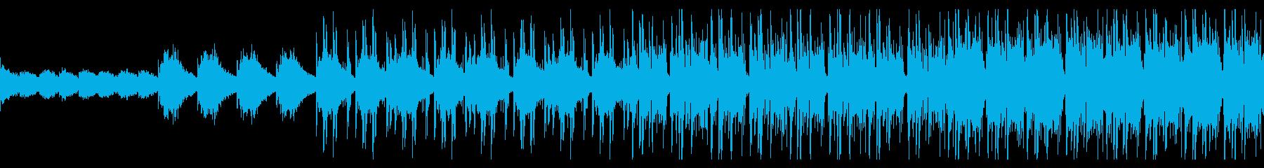 神秘的なテクノBGMの再生済みの波形