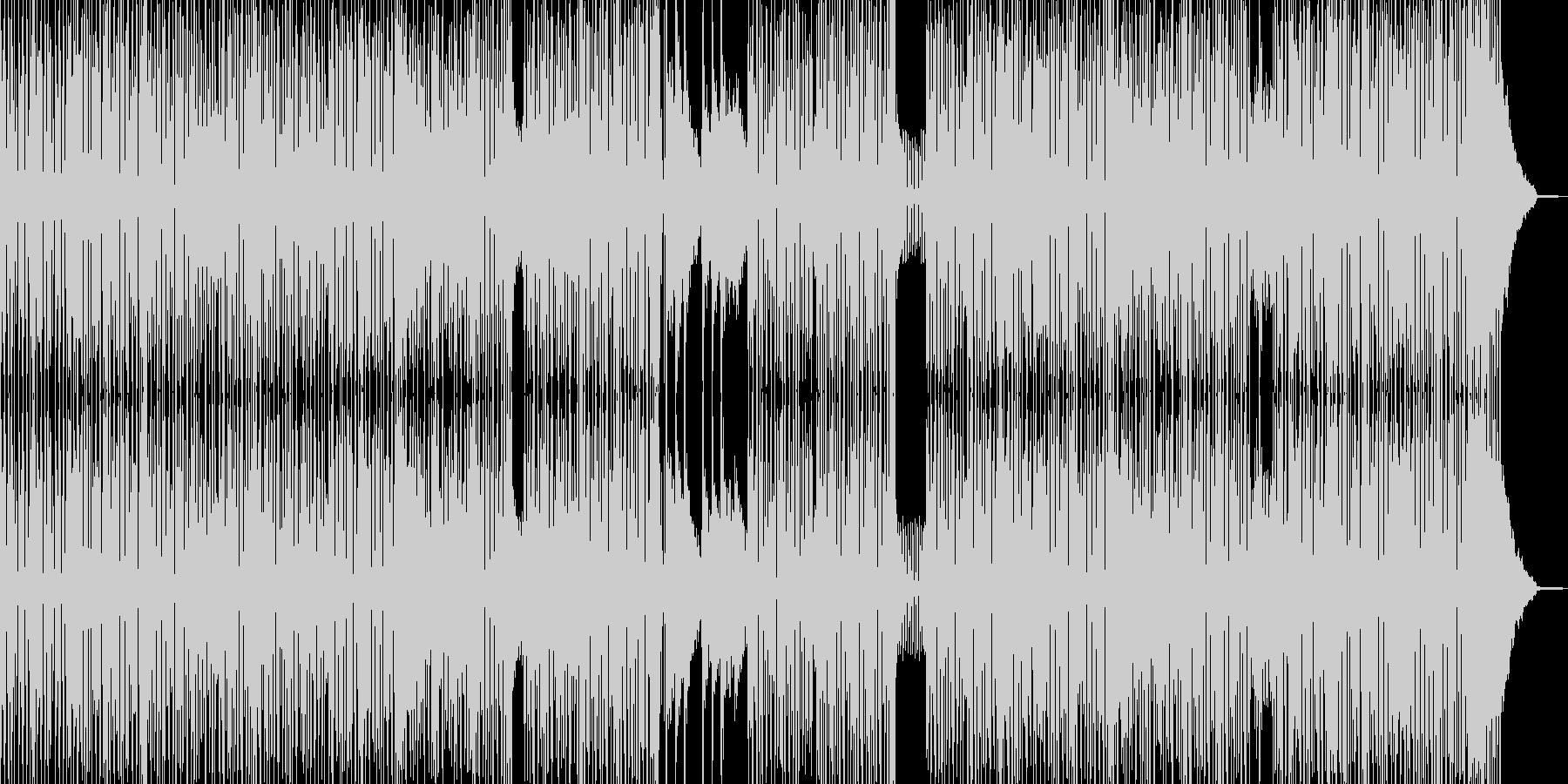 横スクロールゲームのようなコミカルR&Bの未再生の波形