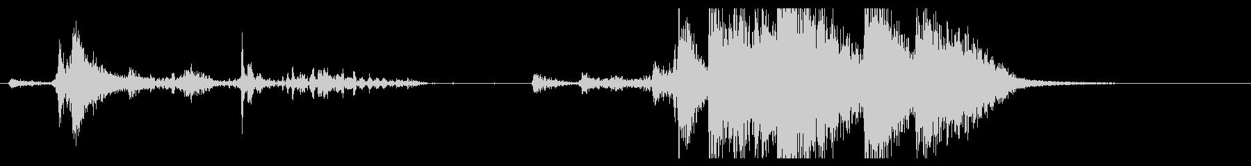 【生録音】ブリキのバケツの音 学校 2の未再生の波形