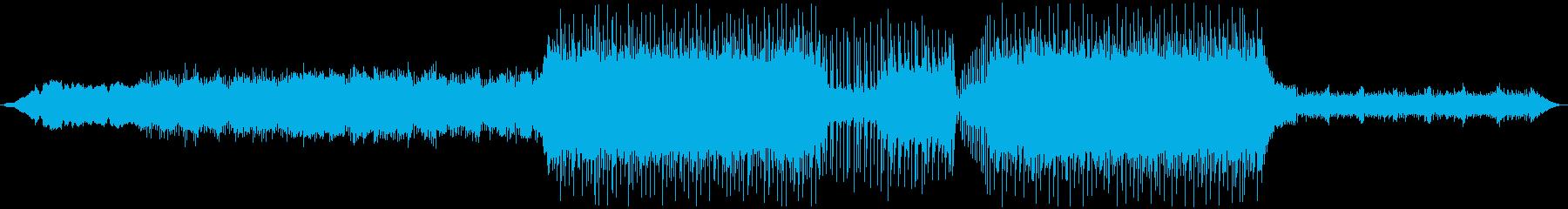 どこかに飛び立つようなイメージの楽曲の再生済みの波形