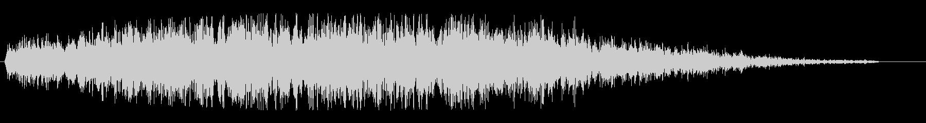 ヒューン(飛行物体の通過音)の未再生の波形