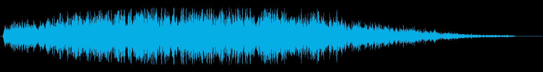 ヒューン(飛行物体の通過音)の再生済みの波形