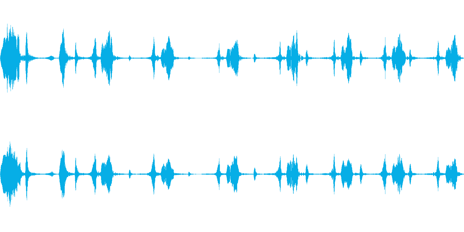 キビタキのさえずり(明るく大きな声)の再生済みの波形