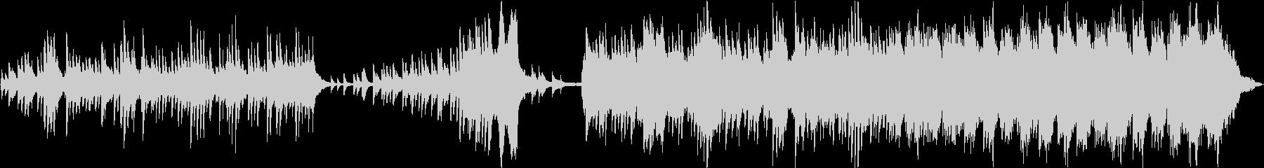 美しいメロディーと華やかなピアノアレンジの未再生の波形