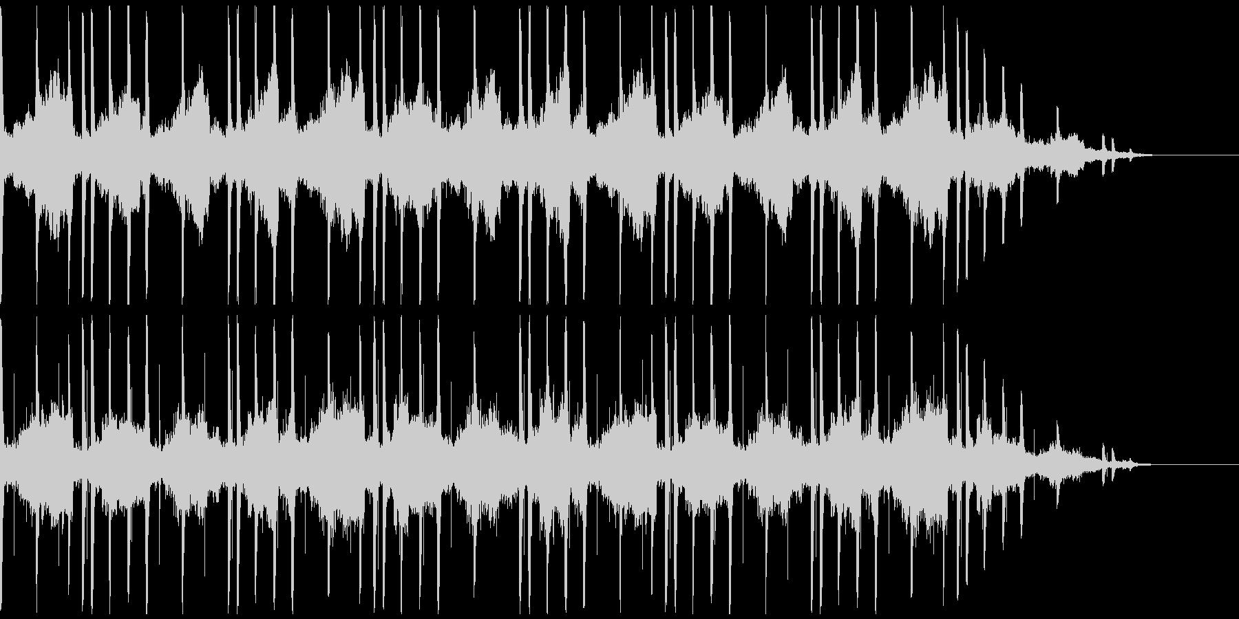 アンニュイな雰囲気なBGMの未再生の波形