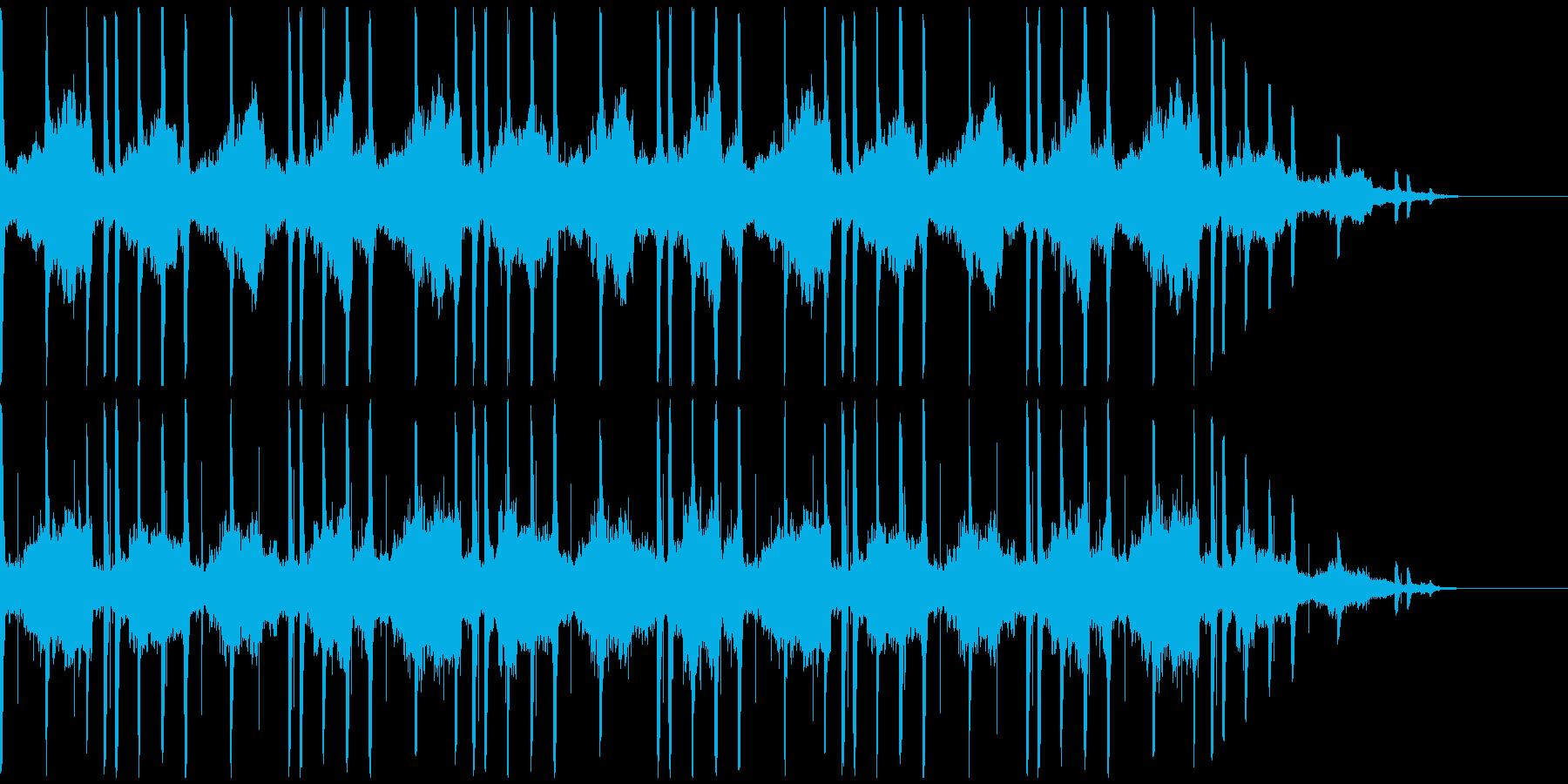 アンニュイな雰囲気なBGMの再生済みの波形