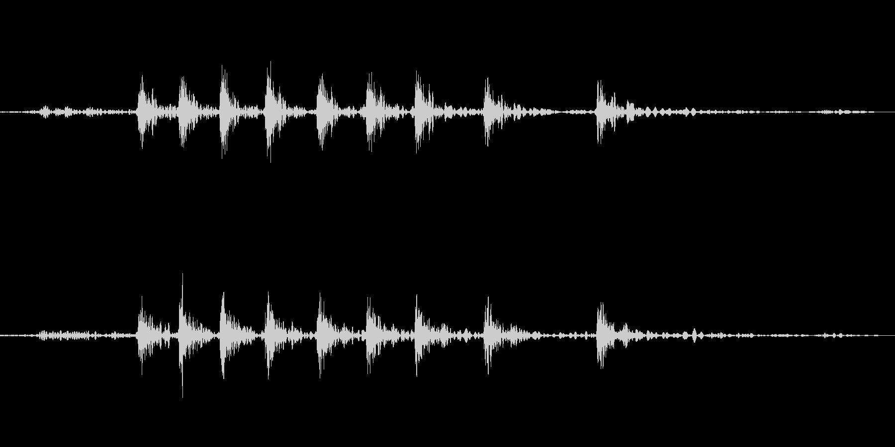 サイドブレーキ『ギー』の未再生の波形