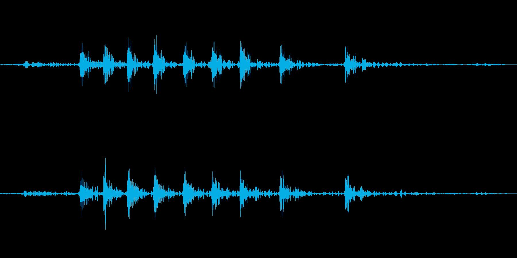 サイドブレーキ『ギー』の再生済みの波形
