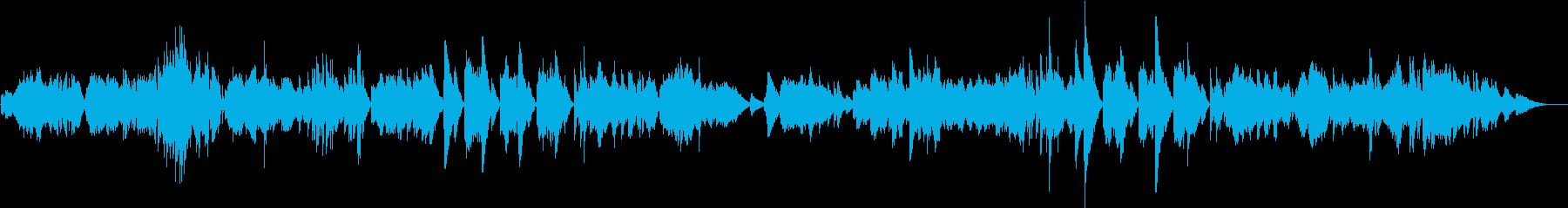悲しく美しく流れるようなクラシック音楽の再生済みの波形