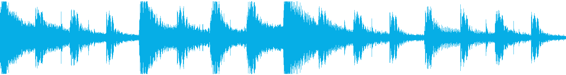 <ショートループ> ピアノ③+ビートAの再生済みの波形