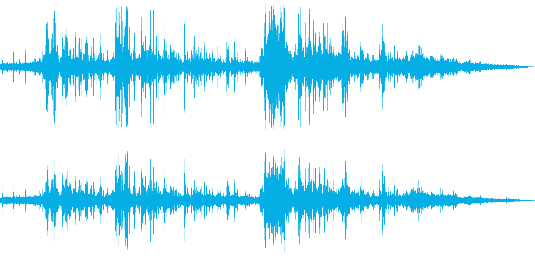 チュンチュンゴロゴロドーン(夕立)の再生済みの波形