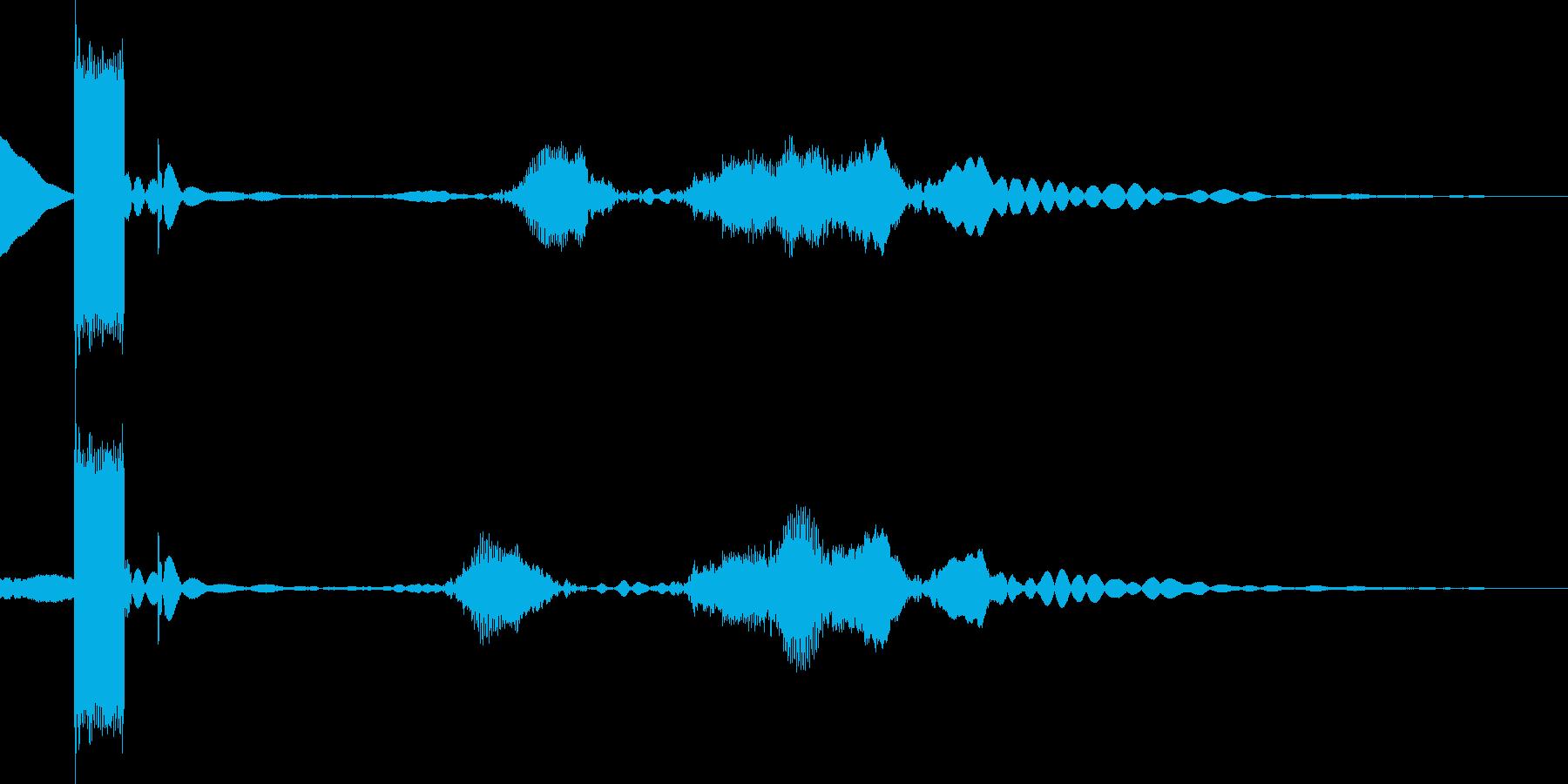 ボタンを押してデジタル確認の再生済みの波形