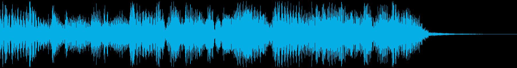 ビートと優しいシンセのジングルBの再生済みの波形