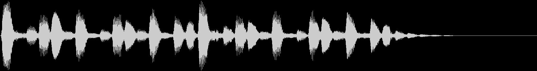 ファンシーなシンセジングルの未再生の波形