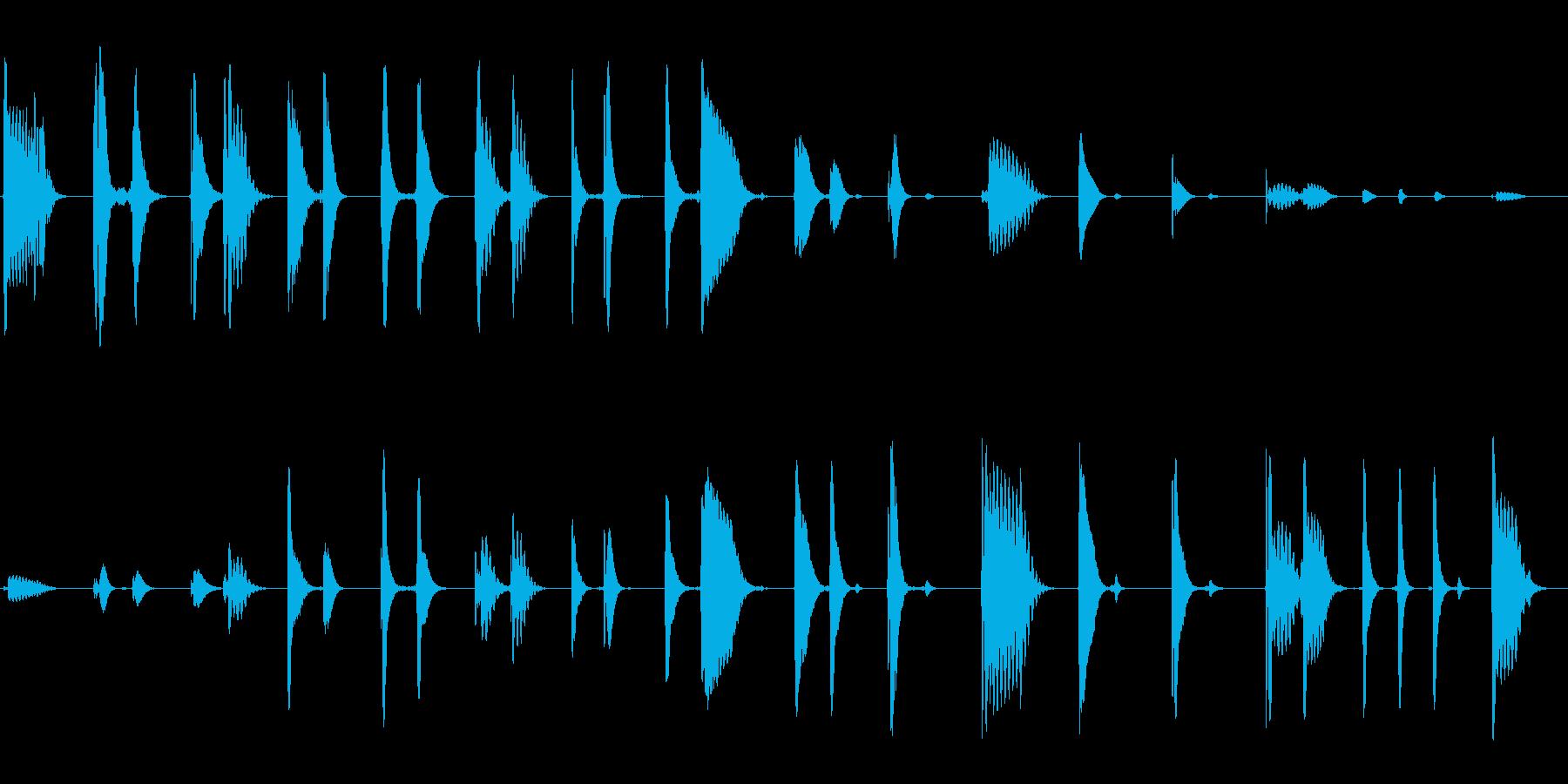 ピロリン (透明感のある響き)の再生済みの波形