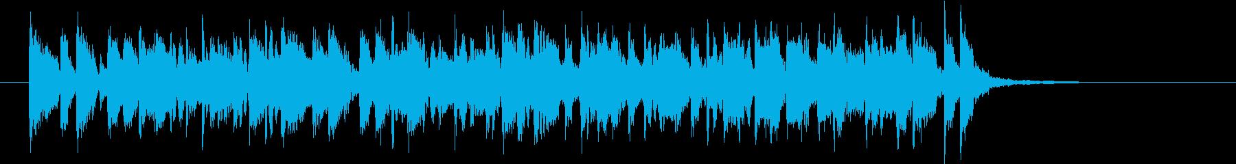 軽快で元気なポップスバンドのジングルの再生済みの波形